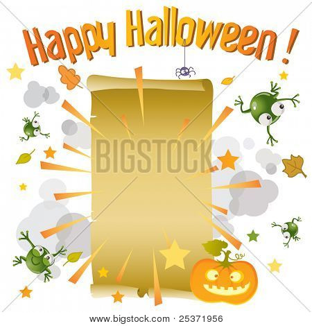 halloween paper scroll background for kids
