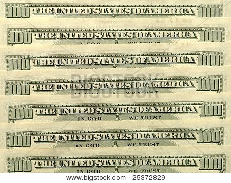 Usa Dollar Banknotes.