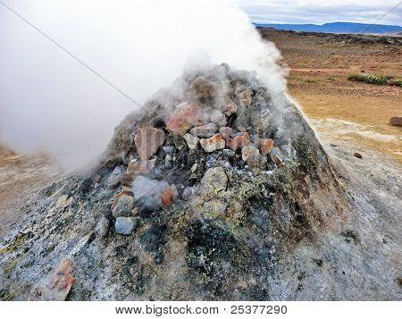 Iceland Geothermal Fumarole