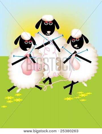 A delightful sheep cartoon.