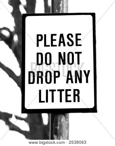 Do Not Drop Litter