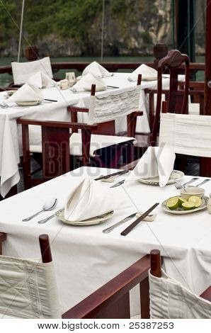 Vietnamese Junk Cruise Fine Dining