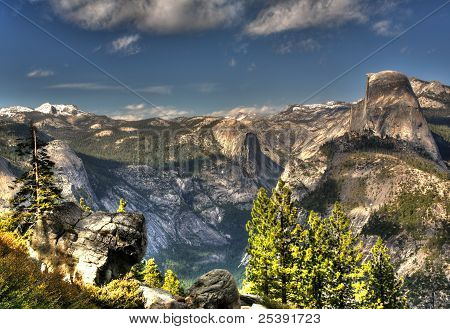 Hdr Of Half Dome From Glacier Point