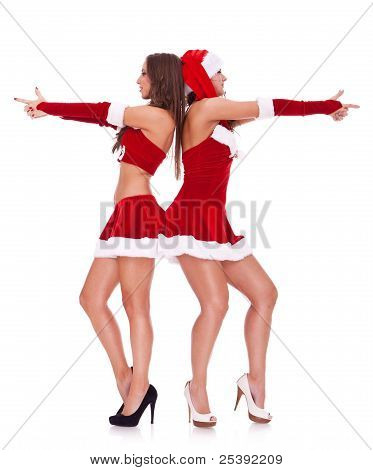 Sexy Santa Women Posing As Secret Agents