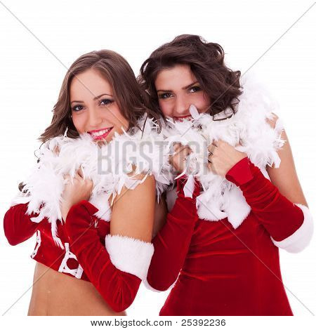 Santa Women Standing Together