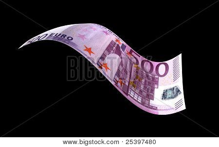 Flying Euro Note