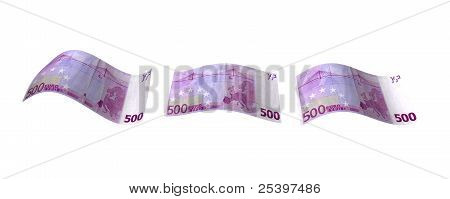 Flying Euro Notes