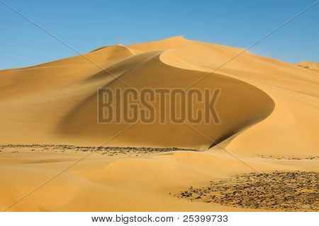 Perfect Sand Dune In The Sahara Desert, Libya