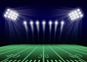 American Football Field Concept Background. Realistic Illustration Of American Football Field Concep poster