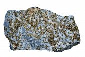 picture of iron pyrite  - Stone with quartz and iron pyrite  - JPG