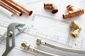 pic of plumbing  - Plumbing tools and materials - JPG
