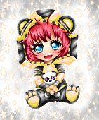 Kawaii Anime Chibi Of The Beautyfyl Colors, Anime Baby Style poster