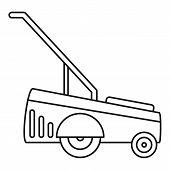 Motor Grass Cutter Icon. Outline Illustration Of Motor Grass Cutter Icon For Web Design Isolated On  poster