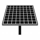 Solar Brand Panel Icon. Simple Illustration Of Solar Brand Panel Icon For Web Design Isolated On Whi poster