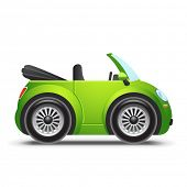 stock photo of fuel efficiency  - Green cabriolet - JPG