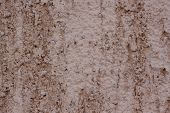 Beautiful Decorative Brown Plastered Wall. Rough Texture. Brown Plastered Handmade Rough Wallpaper. poster