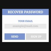Recover Password Icon. Flat Illustration Of Recover Password  Icon For Web poster