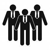 Board Directors Icon. Simple Illustration Of Board Directors  Icon For Web poster