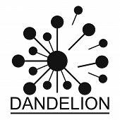 Meadow Dandelion Logo Icon. Simple Illustration Of Meadow Dandelion  Icon For Web. poster