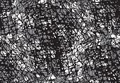 Abstract Seamless Pattern With Black And White Scratches. Shabby Scratched Background, Abstract Grun poster