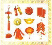 stock photo of rabbit year  - Collection of Chinese New Year gifts - JPG
