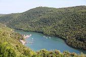 image of peculiar  - Lim bay in Istria peninsula Croatia - JPG