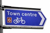 Cycle Pathway To Town Center poster