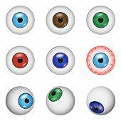 Eye Ball Anatomy Mockup Set. Realistic Illustration Of 9 Eye Ball Anatomy Mockups For Web poster