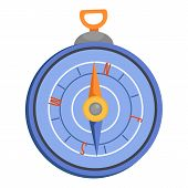 Compass Icon. Flat Illustration Of Compass Icon For Web poster