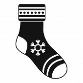 Christmas Sock Icon. Simple Illustration Of Christmas Sock Icon For Web poster