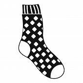 Cotton Sock Icon. Simple Illustration Of Cotton Sock Icon For Web poster