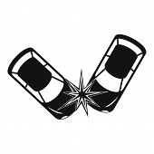 Hard Collision Icon. Simple Illustration Of Hard Collision Icon For Web poster