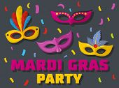 Carnival Show Logo. Flat Illustration Of Carnival Show Logo For Web poster