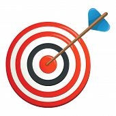 Perfection Target Icon. Cartoon Illustration Of Perfection Target Icon For Web poster