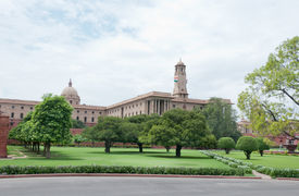 picture of rashtrapati  - Delhi, India, August 14, 2011- Rashtrapati Bhavan, Residence of the president of India
