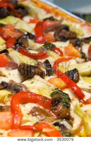 Fresh Gourmet Mediterranean Style Pizza