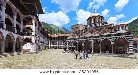 Rila Monastery Courtyard