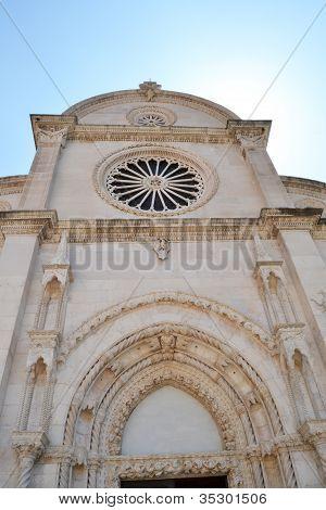 Monumental dome of the Cathedral of Sibenik, Croatia