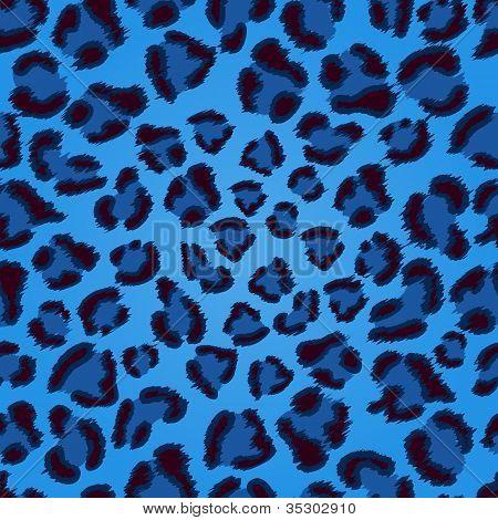 Patrón de la textura de leopardo azul transparente.