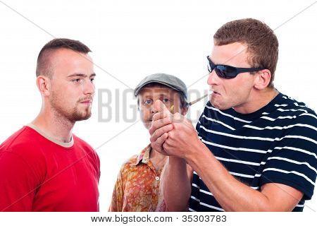 Three Guys Going To Smoke Hashish