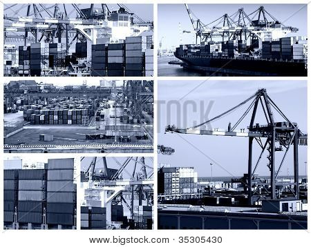Cargo Shipping Collage