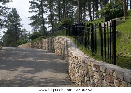 Street Along Cemetery