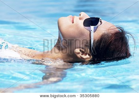 Beautiful Woman Swimming