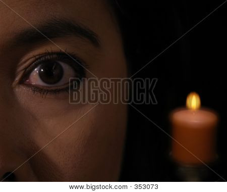 Eye And Candle  8x10