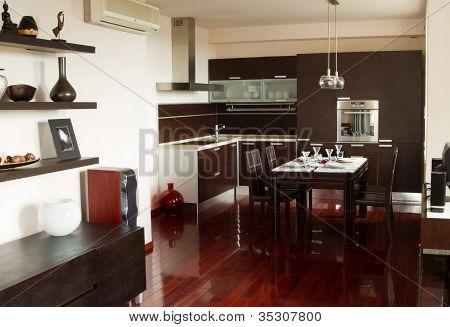 Contemporary Interior In Apartment