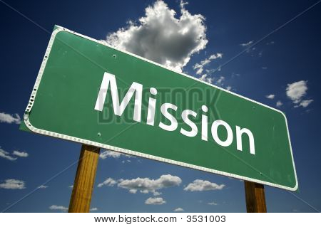 Mission Road Sign