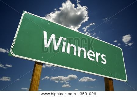Winners Road Sign