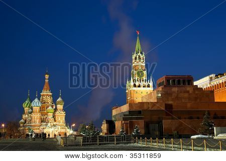 The Red Square is the most famous square in Moscow