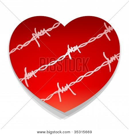Barbwire Love Heart