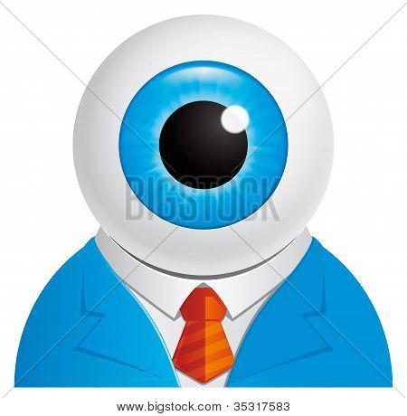 Eyeball Businessman